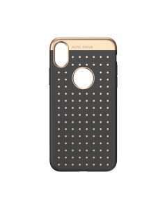 Husa iPhone X Baseus Silicon Star Lighting Black (cu buline gold)