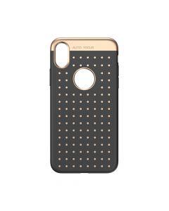 Husa iPhone X Baseus Silicon Star Lighting Black (cu buline gold)