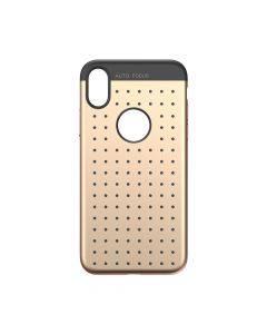 Husa iPhone X Baseus Silicon Star Lighting Gold (cu buline black)