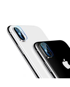 Folie iPhone X Baseus Sticla Camera Lens Transparent (0.2mm, pentru camera)