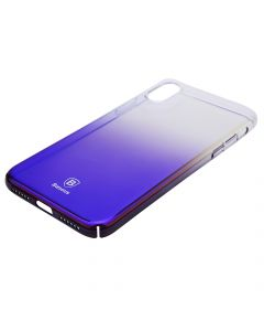Carcasa iPhone X Baseus Glaze Transparent Dark Blue
