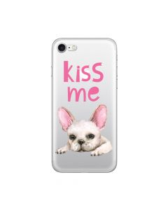 Husa iPhone 8 / 7 Lemontti Silicon Art Pug Kiss