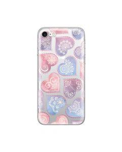 Husa iPhone 8 / 7 Lemontti Silicon Art Hearts