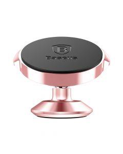 Suport Baseus Auto Small Ears Magnetic Rose Gold (rotatie 360�, cu adeziv)