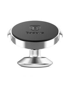 Suport Baseus Auto Small Ears Magnetic Silver (rotatie 360°, cu adeziv)