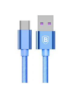 Cablu Type-C Baseus Speed QC USB Blue (1m, output 5A, impletitura textila)