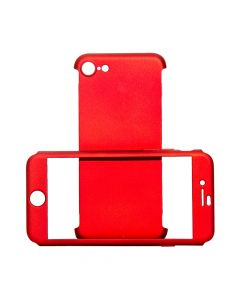 Carcasa iPhone 8 / 7 Just Must Defense 360 Red (3 piese: protectie spate, protectie fata, folie stic