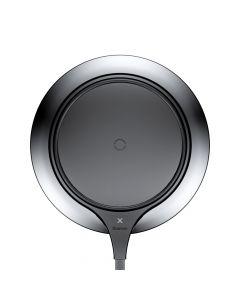 Incarcator Wireless Baseus Metal Black (7.5W, incarcare Qi, tip pad)