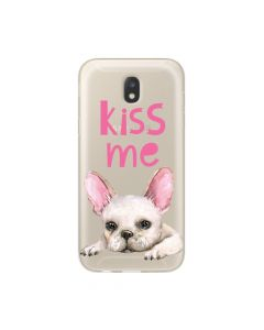 Husa Samsung Galaxy J3 (2017) Lemontti Silicon Art Pug Kiss