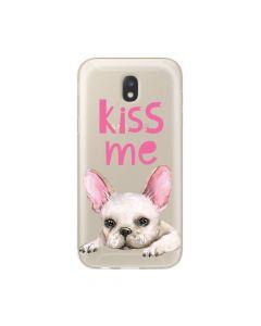 Husa Samsung Galaxy J7 (2017) Lemontti Silicon Art Pug Kiss