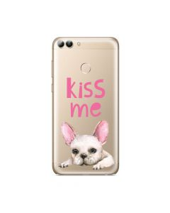 Husa Huawei P Smart Lemontti Silicon Art Pug Kiss