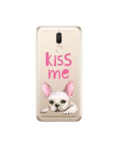 Husa Huawei Mate 10 Lite Lemontti Silicon Art Pug Kiss