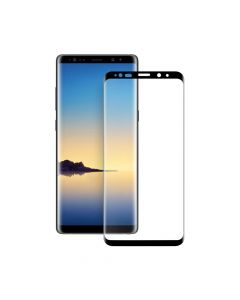 Folie Samsung Galaxy Note 9 Eiger Sticla 3D Edge to Edge Clear Black (0.33mm, 9H, perfect fit, curve