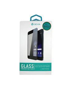 Folie Samsung Galaxy A6 Plus (2018) Devia Frame Sticla Temperata Black (1 fata Anti-Shock, 9H, 2.5D,