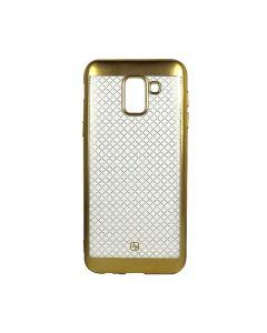 Husa Samsung Galaxy J6 (2018) Just Must Silicon Electroplate Gold (model mat perlat prin electroplac