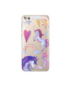Husa Huawei P Smart Lemontti Silicon Art Unicorn
