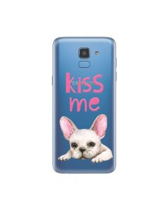 Husa Samsung Galaxy J6 (2018) Lemontti Silicon Art Pug Kiss