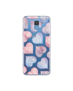 Husa Samsung Galaxy J6 (2018) Lemontti Silicon Art Hearts