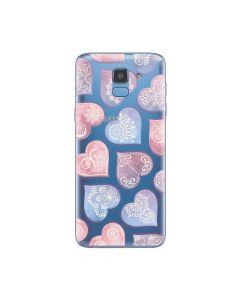 Husa Samsung Galaxy J6 (2018) Lemontti Silicon Art Hearts