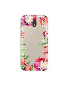 Husa Samsung Galaxy J3 (2017) Lemontti Silicon Art Flowers