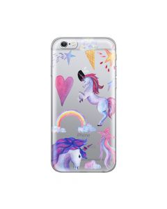Husa iPhone 6/6S Lemontti Silicon Art Unicorn