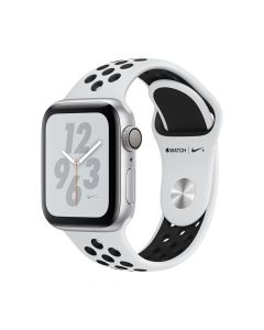 Apple Watch 4 Nike+ GPS Silver Aluminium Case 40mm cu Pure Platinum/Black Nike Sport Band