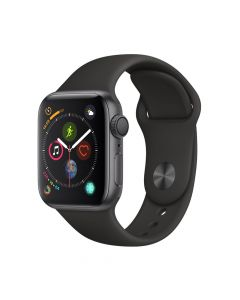 Apple Watch 4 GPS Space Gray Aluminium Case 40mm cu Black Sport Band
