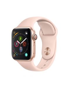 Apple Watch 4 GPS Gold Aluminium Case 40mm cu Pink Sand Sport Band