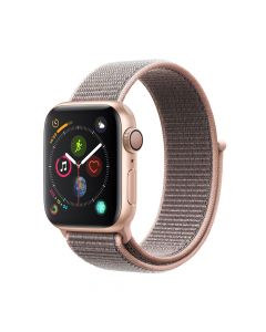 Apple Watch 4 GPS Gold Aluminium Case 40mm cu Pink Sand Sport Loop