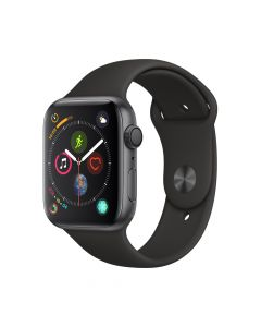 Apple Watch 4 GPS Space Gray Aluminium Case 44mm cu Black Sport Band