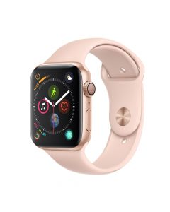 Apple Watch 4 GPS Gold Aluminium Case 44mm cu Pink Sand Sport Band