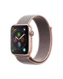 Apple Watch 4 GPS Gold Aluminium Case 44mm cu Pink Sand Sport Loop