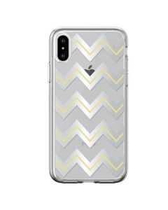 Husa iPhone XS Max Devia Silicon Bowen Series Silver (cu model electroplacat)