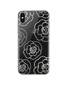 Carcasa iPhone XS / X Devia Camellia Silver