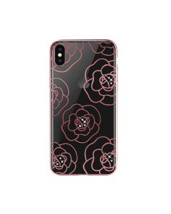 Carcasa iPhone XS / X Devia Camellia Rose Gold