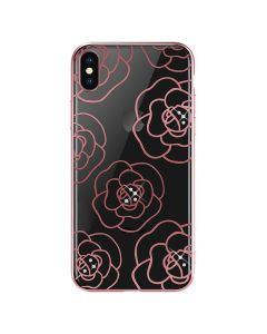 Carcasa iPhone XS Max Devia Camellia Rose Gold