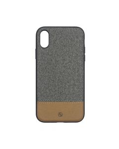 Carcasa iPhone XR Just Must Mix Fabric Dark Grey