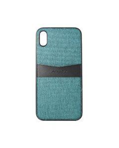 Carcasa iPhone XS Max Meleovo Jean I Green Teal & Black