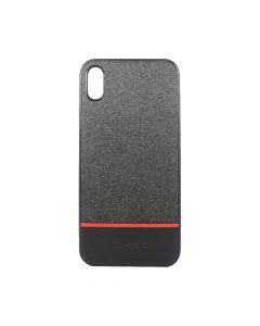 Carcasa iPhone XS Max Meleovo Strip II Black & Red