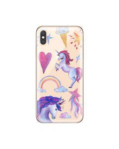 Husa iPhone XS Max Lemontti Silicon Art Unicorn