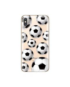 Husa iPhone XS Max Lemontti Silicon Art Football
