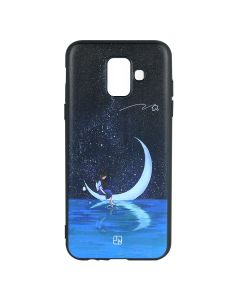 Husa Samsung Galaxy A6 (2018) Just Must Silicon Art Black with Moon Girl