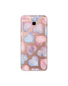 Husa Samsung Galaxy J4 Plus Lemontti Silicon Art Hearts