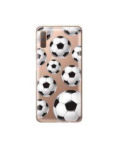 Husa Samsung Galaxy A7 (2018) Lemontti Silicon Art Football