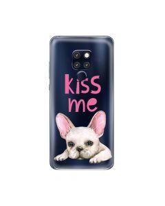 Husa Huawei Mate 20 Lemontti Silicon Art Pug Kiss