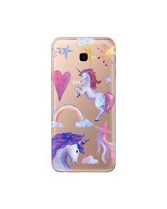 Husa Samsung Galaxy J4 Plus Lemontti Silicon Art Unicorn