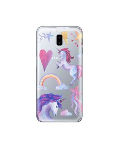 Husa Samsung Galaxy J6 Plus Lemontti Silicon Art Unicorn