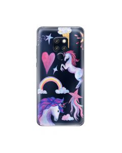 Husa Huawei Mate 20 Pro Lemontti Silicon Art Unicorn