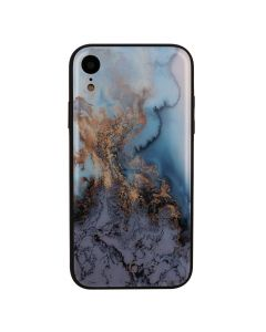 Carcasa iPhone XR Just Must Glass Print Blue Marble