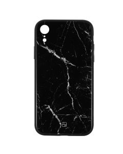Carcasa iPhone XR Just Must Glass Print Black Marble